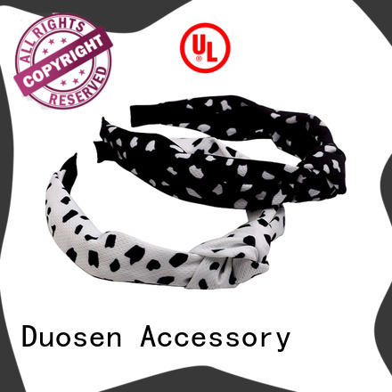 Duosen Accessory bow fabric hair bands Supply for party