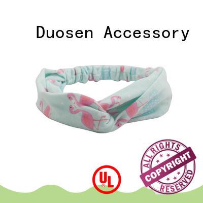elastic fabric tie headbands ecofriendly for daily Life Duosen Accessory