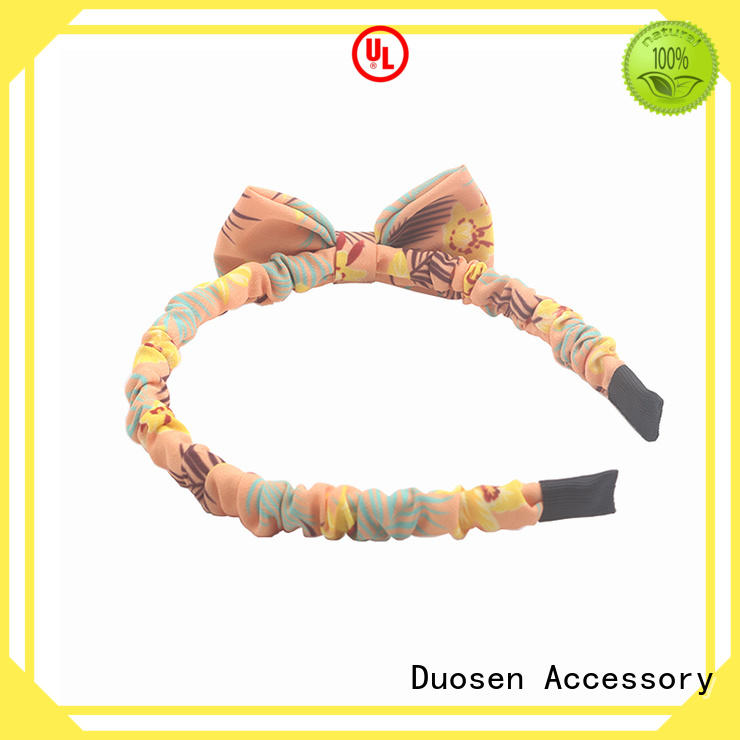 Duosen Accessory flower organic fabric headband supplier for sports