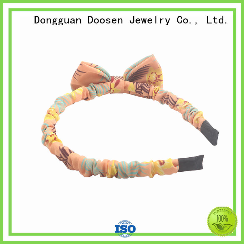 Wholesale covered organic fabric headband Duosen Accessory Brand