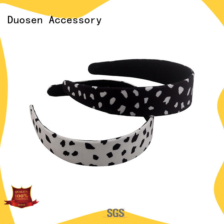 Duosen Accessory elastic recycled fabric hairband company for running